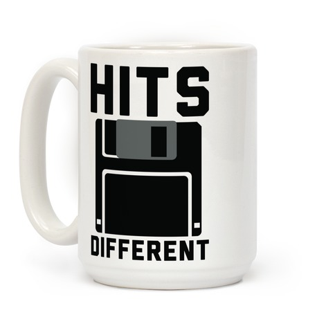 Hits Different Floppy Disk Coffee Mug