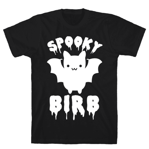 Spooky Birb Bat Mens T-Shirt