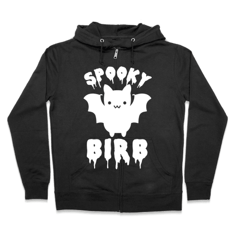 Spooky Birb Bat Zip Hoodie