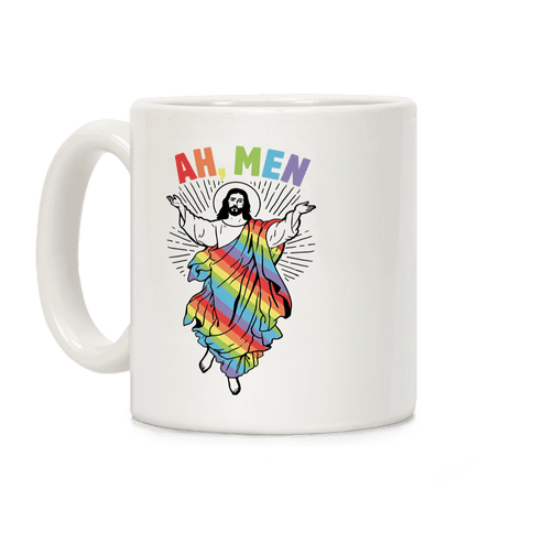 Ah, Men Gay Jesus Mug Coffee Mug