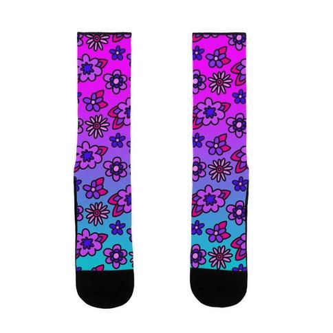 Funky Fresh Floral Sock