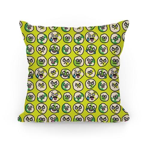 Wasabi Peas Pattern Pillow