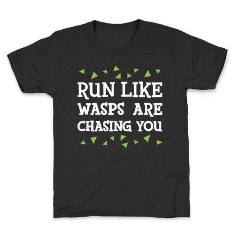 Run Like Wasps Are Chasing You Kids T-Shirt