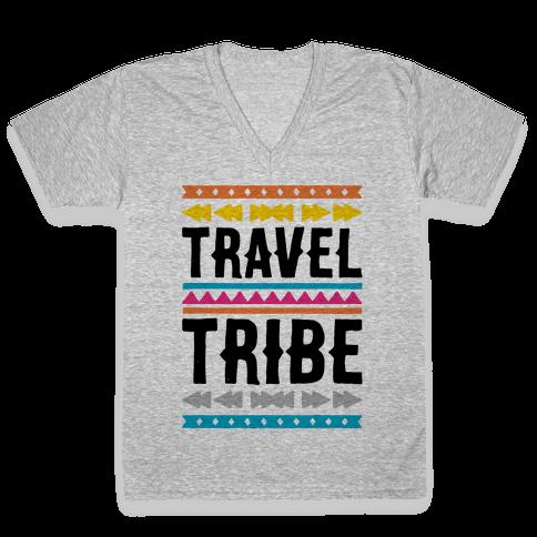 Travel Tribe  V-Neck Tee Shirt