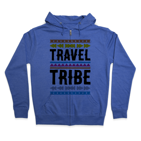 Travel Tribe  Zip Hoodie