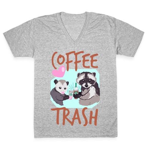 Coffee Trash V-Neck Tee Shirt