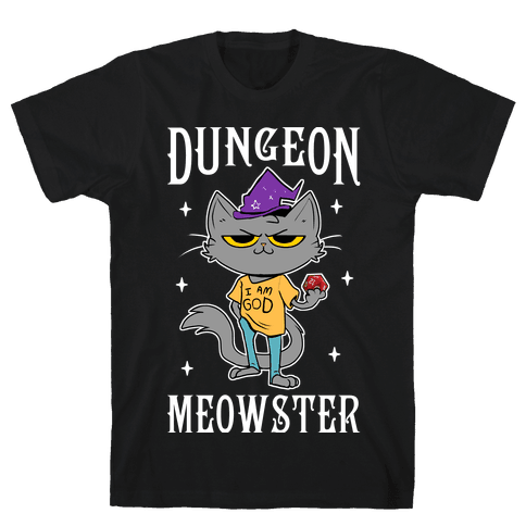 Dungeon Meowster Mens/Unisex T-Shirt