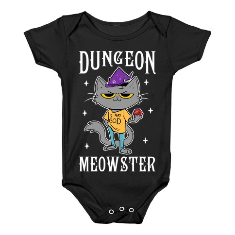 Dungeon Meowster Baby Onesy