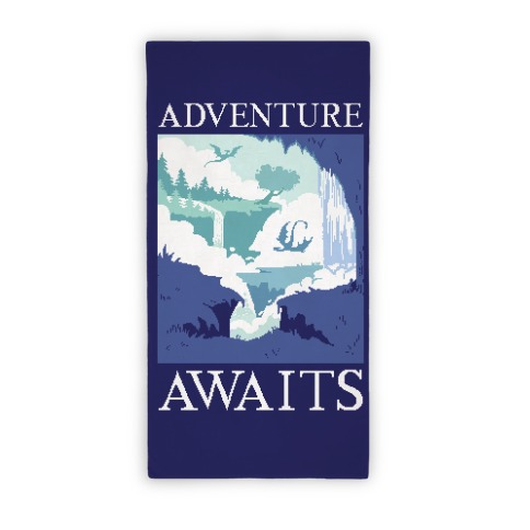 Adventure Awaits Beach Towel