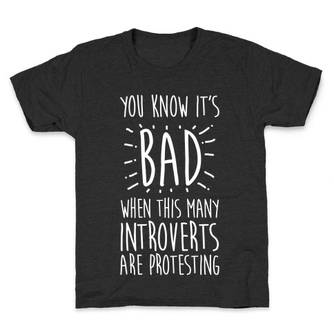 Protesting Introverts Kids T-Shirt