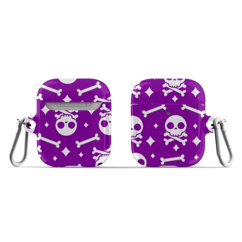 Cute Skull N' Bones Pattern (Purple) AirPod Case