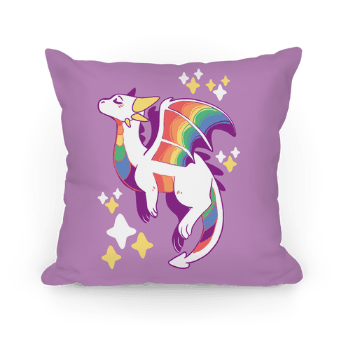 Gay Pride Dragon Pillow