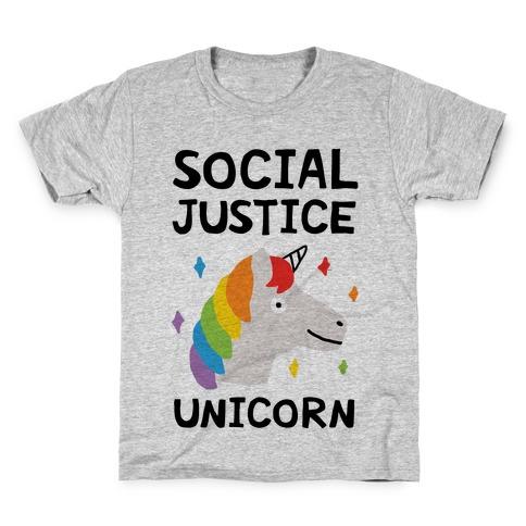 Social Justice Unicorn Kids T-Shirt