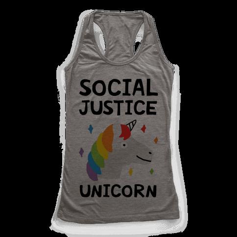 Social Justice Unicorn Racerback Tank Top