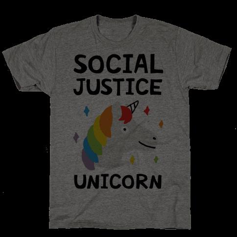 Social Justice Unicorn Mens T-Shirt