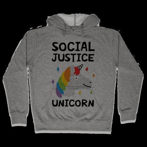 Social Justice Unicorn Hooded Sweatshirt
