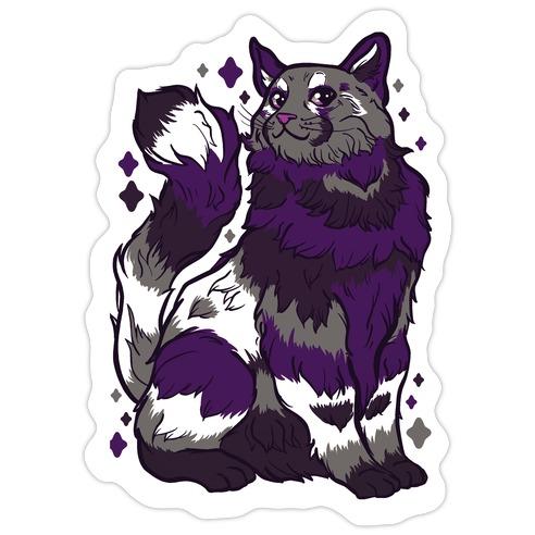 Asexual Pride Cat Die Cut Sticker