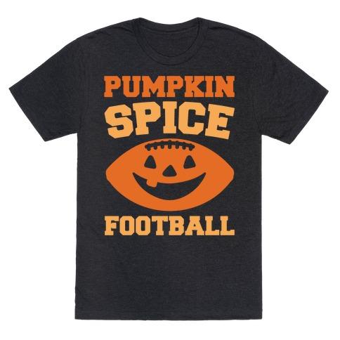 Pumpkin Spice Football White Print T-Shirt