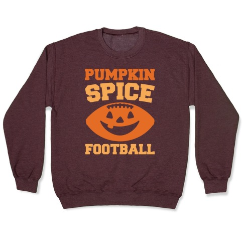 Pumpkin Spice Football White Print Pullover