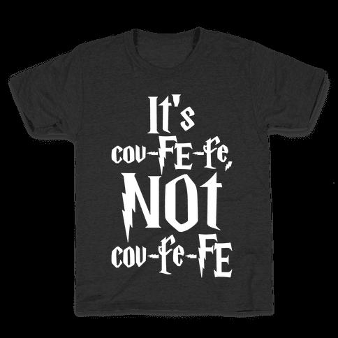 It's Covfefe Not Covfefe Parody White Print Kids T-Shirt