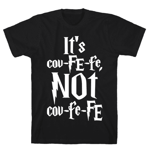 It's Covfefe Not Covfefe Parody White Print Mens T-Shirt