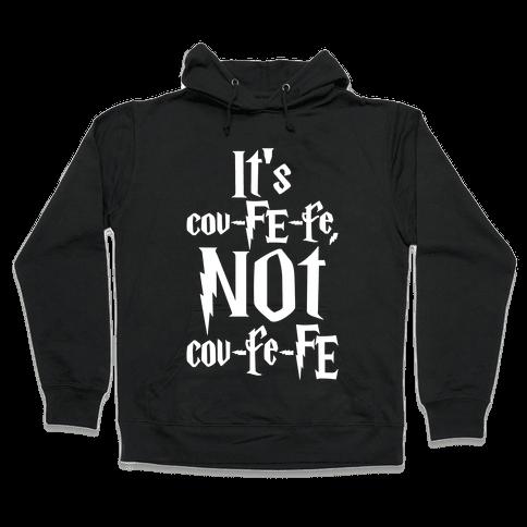 It's Covfefe Not Covfefe Parody White Print Hooded Sweatshirt