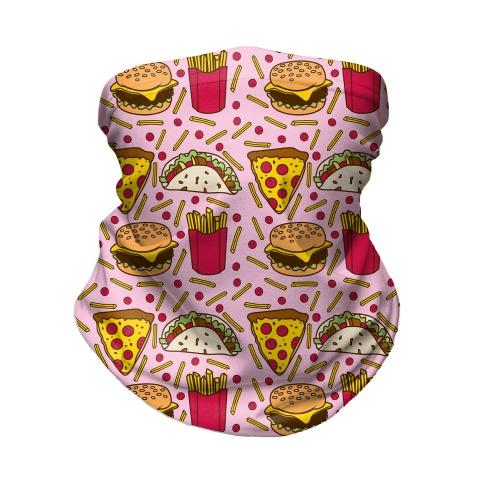 Junk Food Pattern Neck Gaiter