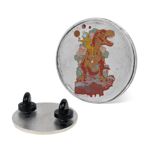 Dinosaur Strength Tarot pin