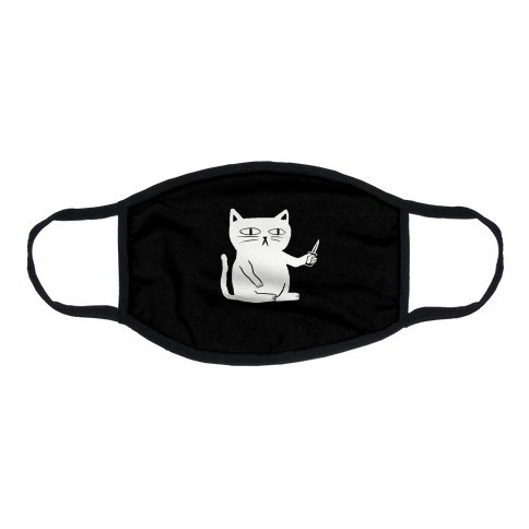 Stabby Cat Flat Face Mask