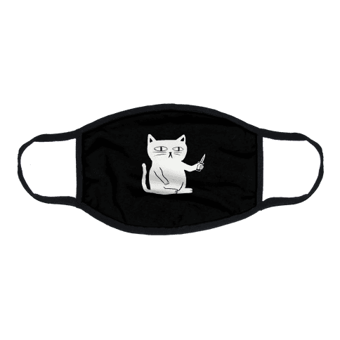 Stabby Cat Flat Face Mask