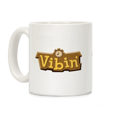 Vibin' Animal Crossing Parody Coffee Mug