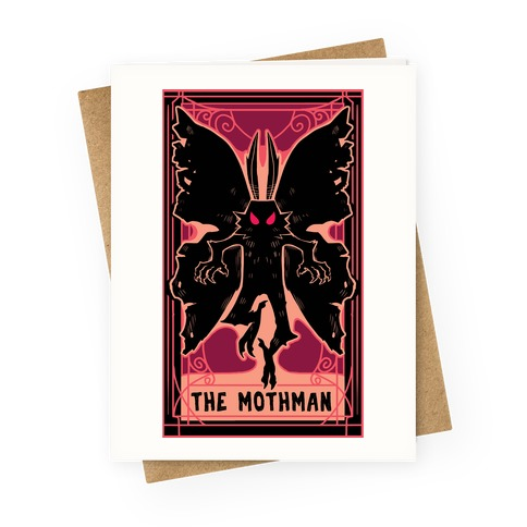 The Mothman Tarot Greeting Card