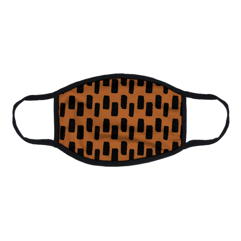 Organic Rectangle Pattern Rust Orange Flat Face Mask