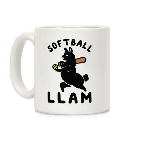 Softball Llam Coffee Mug