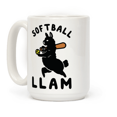 Softball Llam Coffee Mug