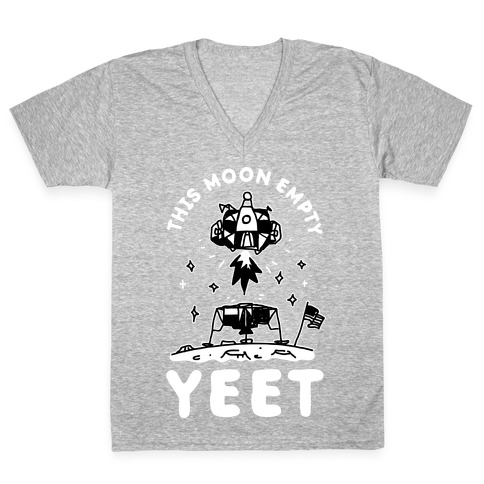 This Moon Empty YEET V-Neck Tee Shirt