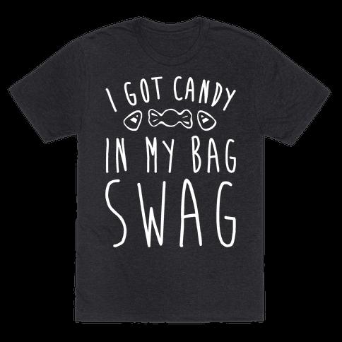 I Got Candy In My Bag Swag Parody White Print