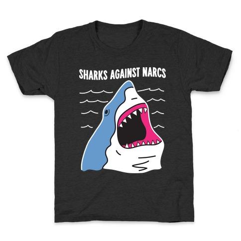 Sharks Against Narcs Kids T-Shirt