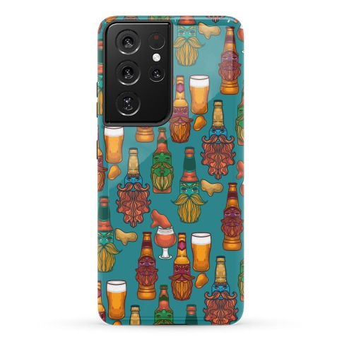 Beers With Beards Pattern Phone Case