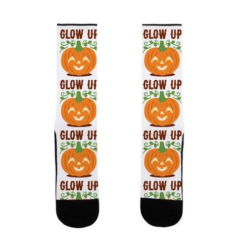 Glow Up Jack-o'-Lantern Sock