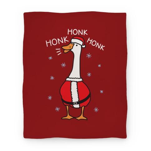 Honk Honk Honk Santa Goose Blanket