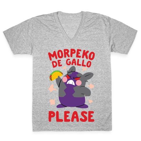 Morpeko De Gallo Please V-Neck Tee Shirt