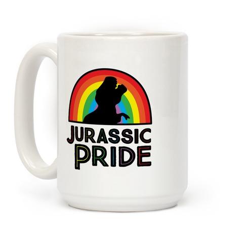 Jurassic Pride Parody Coffee Mug