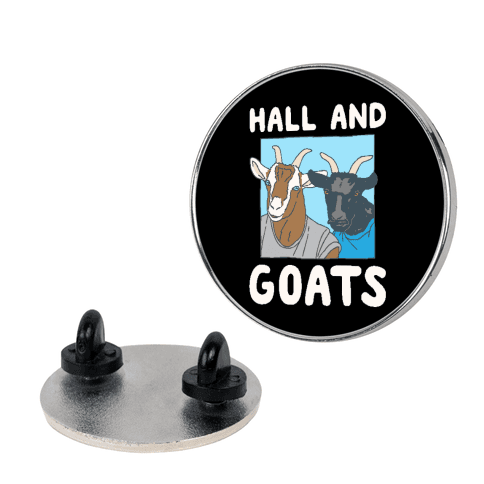 Hall And Goats Parody Pin