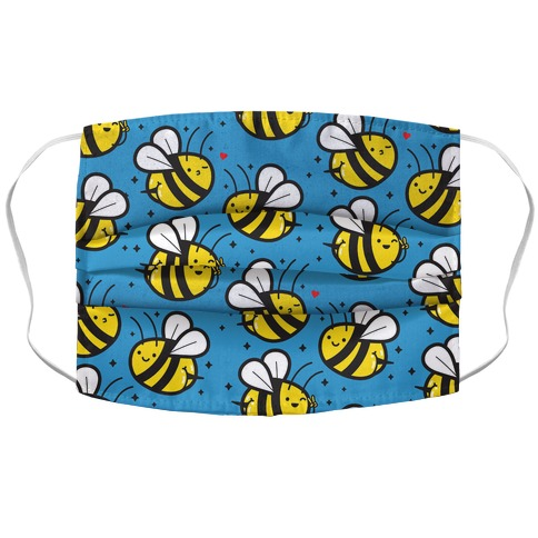 Bee Booties Accordion Face Mask