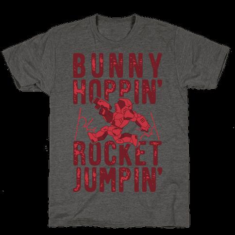 Bunny Hoppin' & Rocket Jumpin' Mens/Unisex T-Shirt