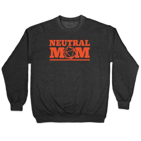 Neutral Mom White Print Pullover