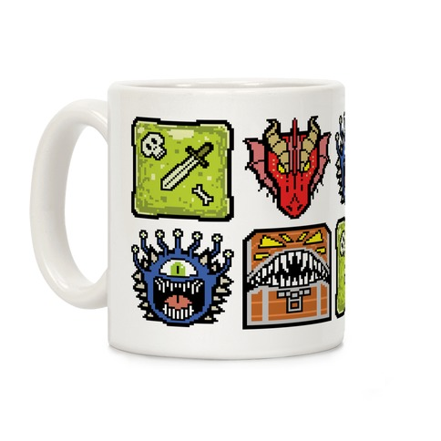 Pixel DnD Monsters Coffee Mug