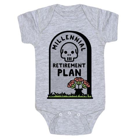 Millennial Retirement Plan Baby Onesy