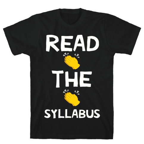 Read The Syllabus Clap Emoji Mens T-Shirt